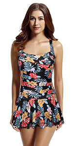 Women's Twist Skirted One Piece Swimsuit