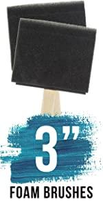 "3"" Foam Brushes"