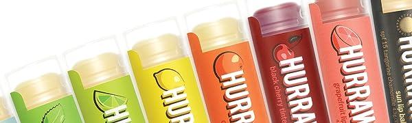 HURRAW Organic Vegan Cruelty Free Non GMO Gluten Free All Natural Luxury Raspberry Lip Balm