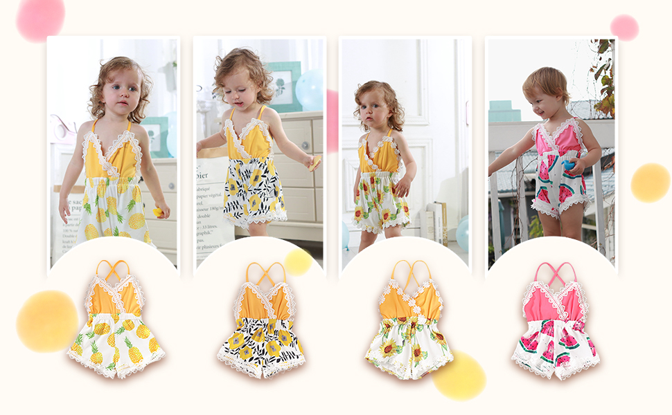 Summer Toddler Kids Baby Girls Sisters Party Pageant Floral Party Romper//Dresses