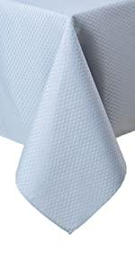 blue tablecloth, light blue tablecloth, formal tablecloth blue