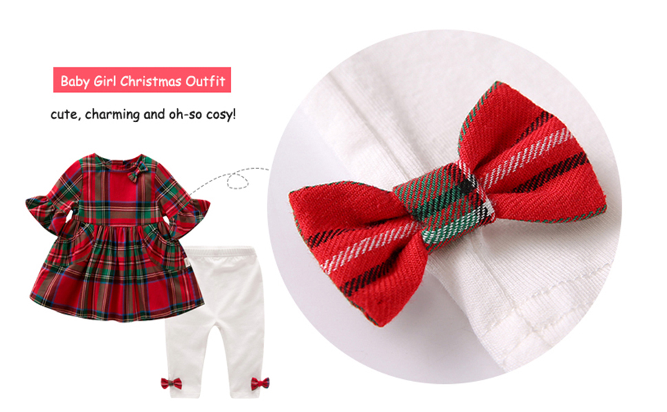 baby girl red plaid tunic