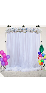 White Backdrop Curtains for Parties Baby Shower Wedding Birthday Decorations