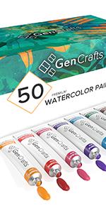 50 Watercolor Paint Tubes