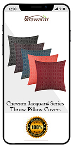 Chevron Jacquard Throw Pillow Covers