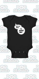 Superhero Movie Comic Book Costume I Love You 3000 Infant Baby Boy Girl Bodysuit