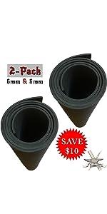 2-Pack: 6mm thickness High Density EVA Foam sheet roll black value pack saving