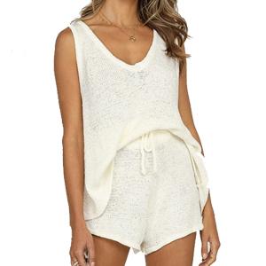 white loungewear