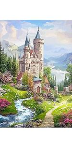 Diamond Painting castle