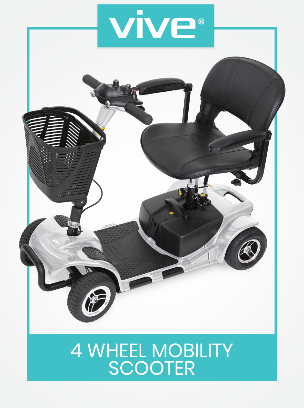 Wheel Mobility Scooter - Electric Powered Wheelchair Device - Compact Heavy