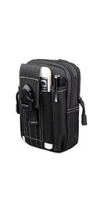 tactical pouch phone case waist pack bag mens satchel travel purse