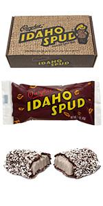 Idaho candy company spud bars dark chocolate coconut marshmallw creme center gift box 12 count fresh