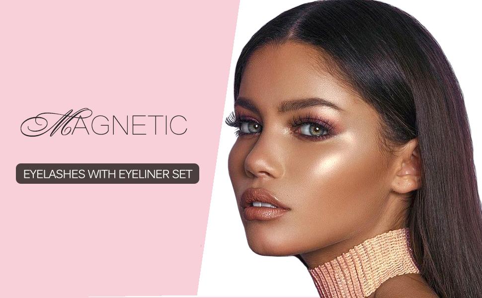magnetic eyelash with eyeliner set