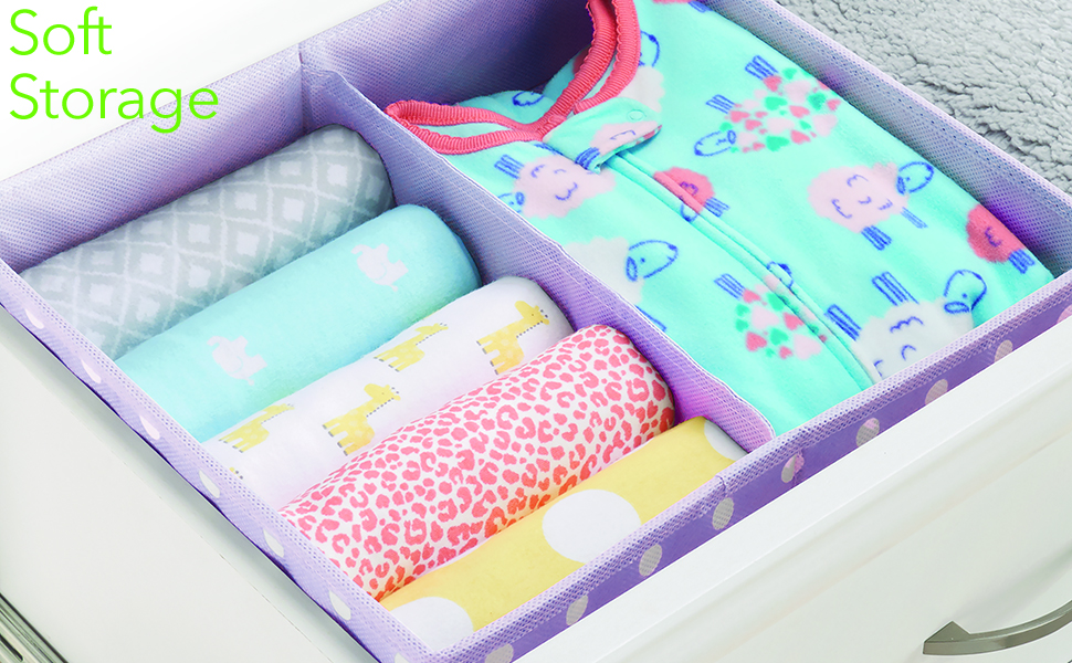gray pink blue purple polka boy girl baby toddler clothes shoes nursery closet room drawer slim wide