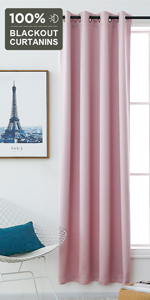 pink blackout curtains for nursery baby room