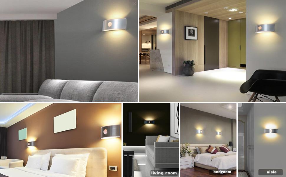 wall light nightlight rechargeable battery powered bedroom indoor lights 3000K 6000K Lamps Sconces