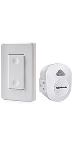 Dewenwils Outdoor Indoor Wireless Remote Control Outlet Kit Waterproof Plug In