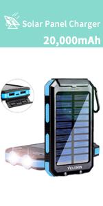 solar phone charger 20000mah