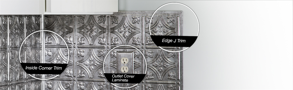 Fasade Backsplash Accessories Trim and Outlet Covers