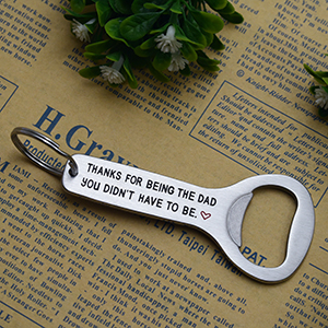 Melix Home Best Dad Gifts Thanks for Being The Dad You Didnt Have to Be Bottle Opener