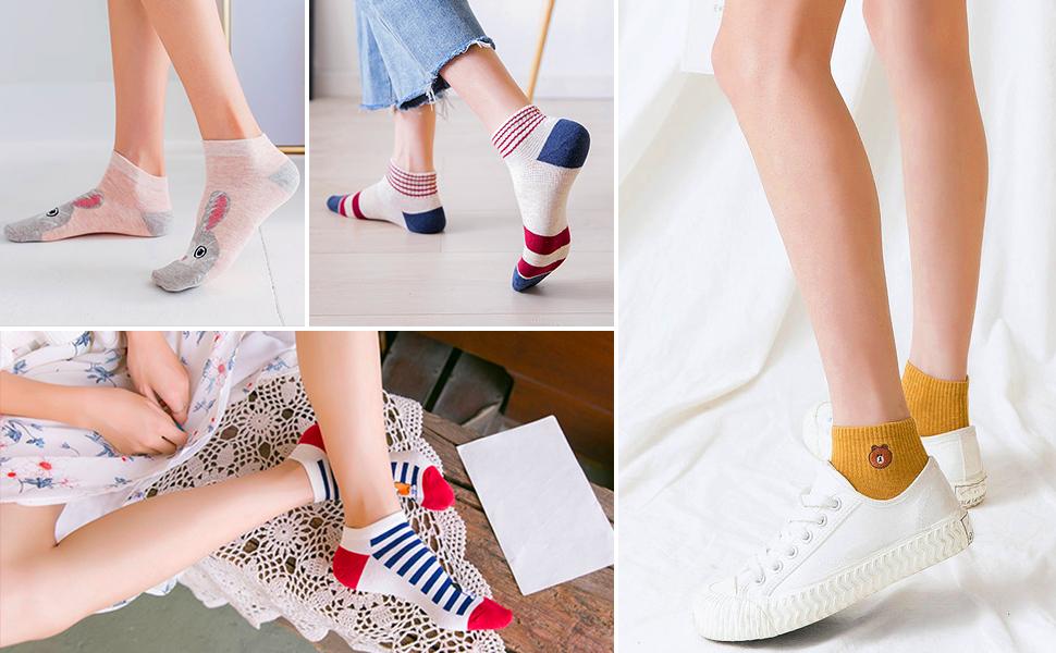 Women-Socks-Low-Cut-Animal-foot