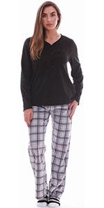 Just Love pajamas pajama set pj lounge loungewear jammies socks henley plaid