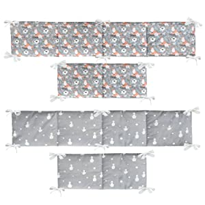 crib bumpers for girl and boys