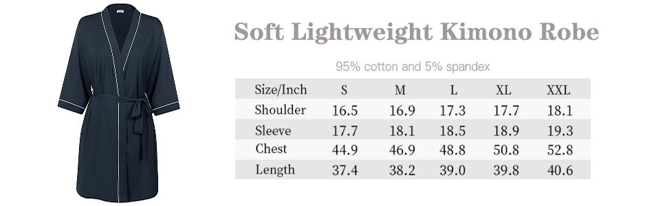 short cotton robe