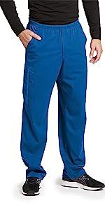 model wearing Men's Grey's Anatomy Impact Ascend Cargo Scrub Pant