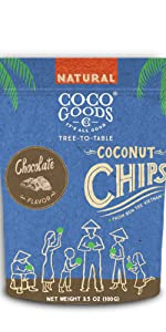 Natural Toasted Coconut Chips Chocolate