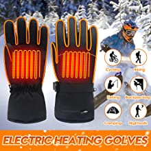 winter heated gloves battery powered heating gloves sports outdoor recreation men women heat gloves