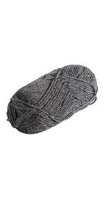 wota wool 100% wool yarn grey gray black