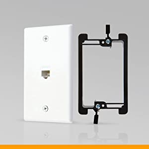 Ethernet wall plate mounting bracket single gang 1 port