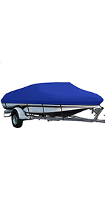 210D boat cover blue