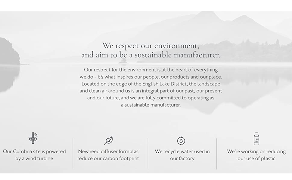 respect environment, sustainable manufacturer