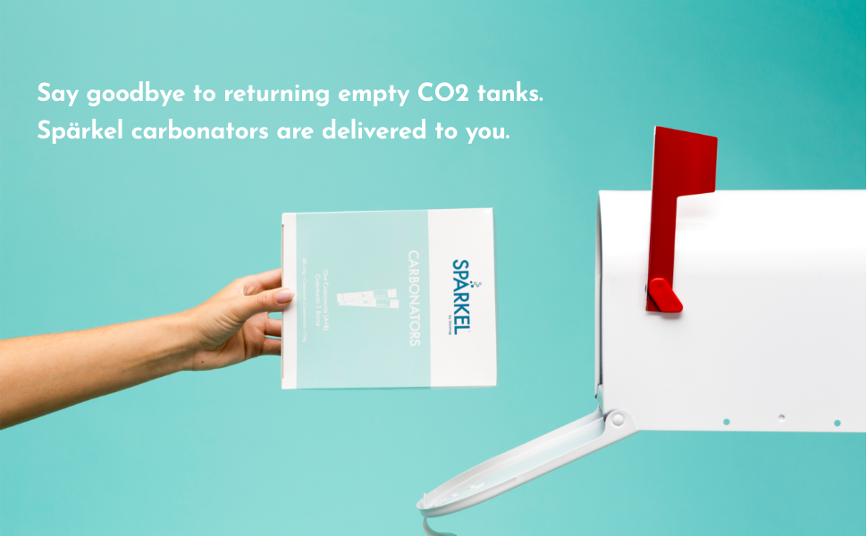 Say goodbye to returning empty CO2 tanks.  Spärkel carbonators are delivered to you.