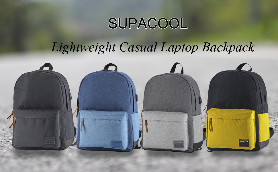 SUPACOOL Lightweight Casual Laptop Backpack