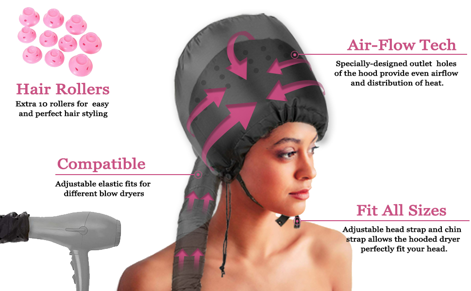 air flow technology compatible fit all sizes hair rollers