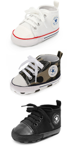 Unisex Baby Boys Girls Star Sneaker Soft Anti-Slip Sole Newborn Infant First Walkers Cotton Shoes