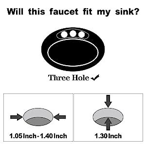 Anpean Two Handle 8 Inch Widespread Bathroom Faucet 3 Holes, Brushed Nickel