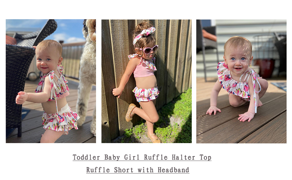 baby girl swimsuit ruffle outfits