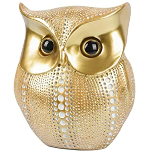 Gold/White Dots Owl