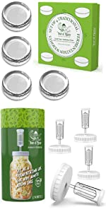 Fermentation Weights and Lids Fermenting Kit for Wide Mouth Mason Jars Year of Plenty