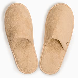 12-Pack Closed Toe Coral Fleece Slipper, Woodland (Large)