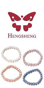 bracelet set for women pearl jewelry 7-8mm freshwater