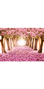 Pink flower Tree Backdrop