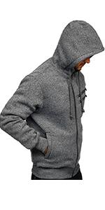 men full zip hoodie