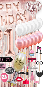 21st Birthday Decorations for Women 21st Birthday Gifts for women 21st Birthday Party Supplies 21st