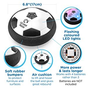 toddler hoverball light up age gifts socers paw patrol small size sport outdoor prime