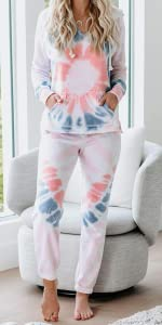 2 piece outfitd lounge set long pant pajamas set